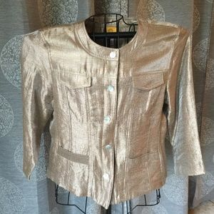 Ruby Rd. Gold Shimmer Jacket